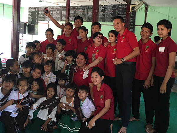 Sanon's visit to local monastery school